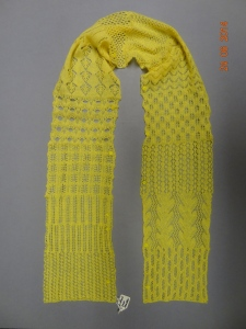 Yellow lace sampler